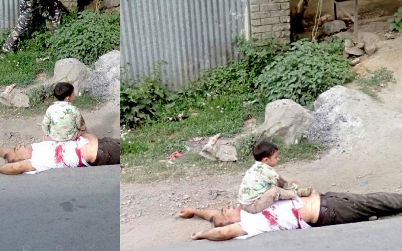 Keşmir'deki çocuk fotoğrafı sosyal medyayı ayağa kaldırdı