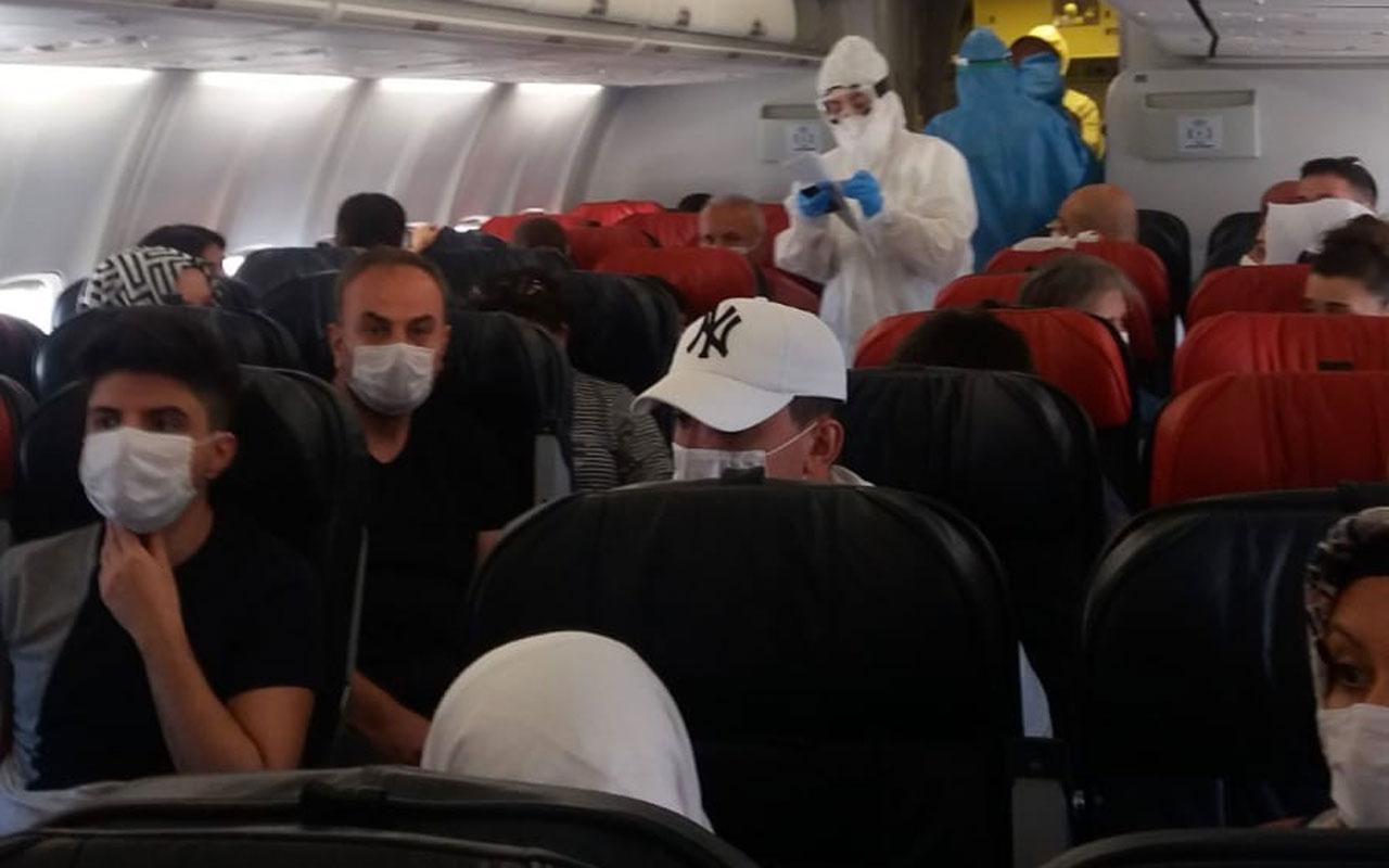 Diyarbakır-Ankara uçağında koronavirüs paniği yolcu fenalaştı