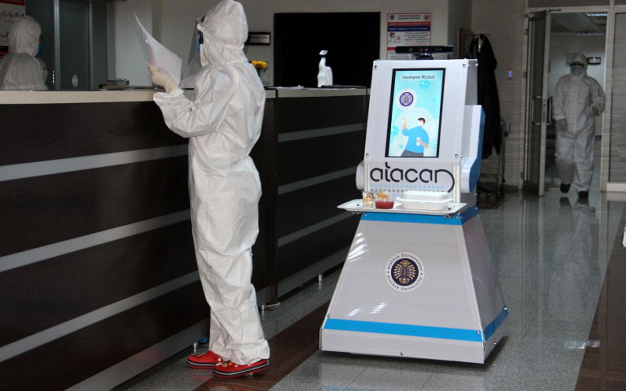 Erzurum Araştırma Hastanesi'nde korona robotu Atacan hastaların hizmetine başladı