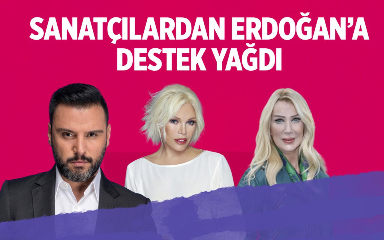 Sosyal medya düzenlemesine sanatçılardan Erdoğan'a destek!