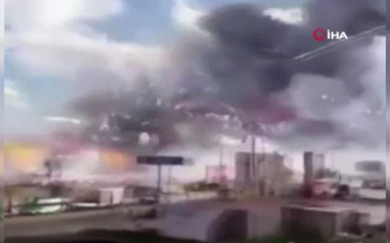 Sakarya'da havai fişek fabrikasındaki patlama anları kamerada