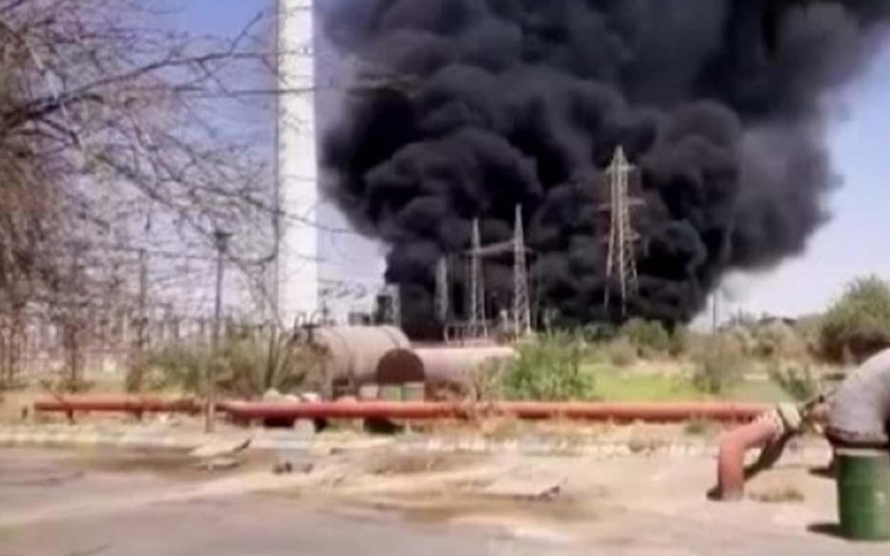 İran'da elektrik santralinde trafo patladı