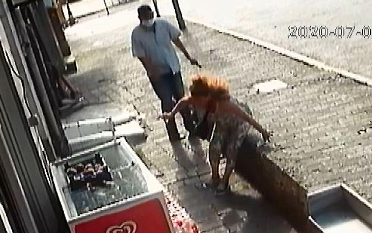 Beyoğlu'nda Emniyet Müdürlüğü önünde kadına silahlı saldırı! İşte o korkunç anlar