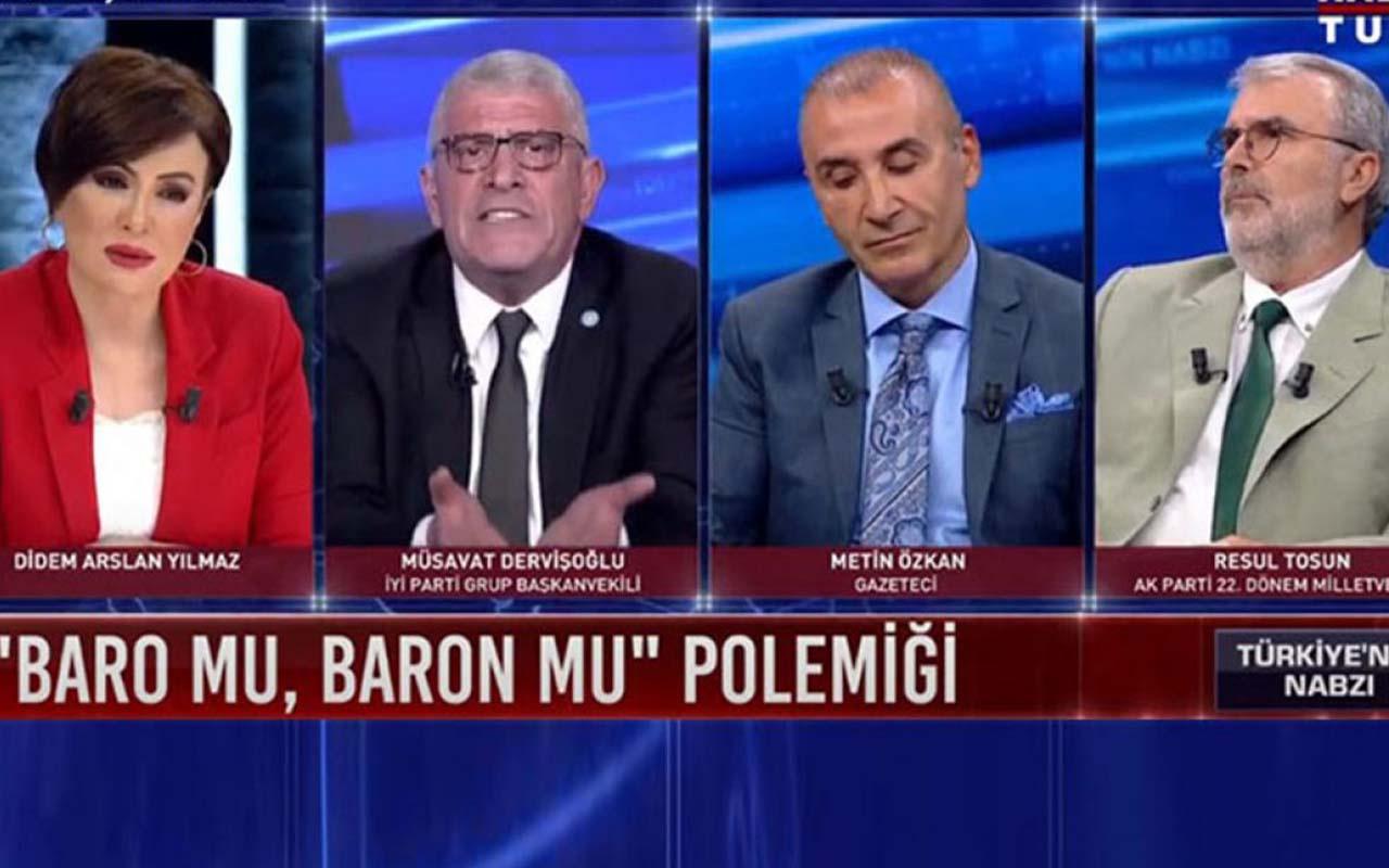 Canlı yayında olay kavga! İYİ Partili Dervişoğlu ile AK Parti'li Tosun arasında sert tartışma
