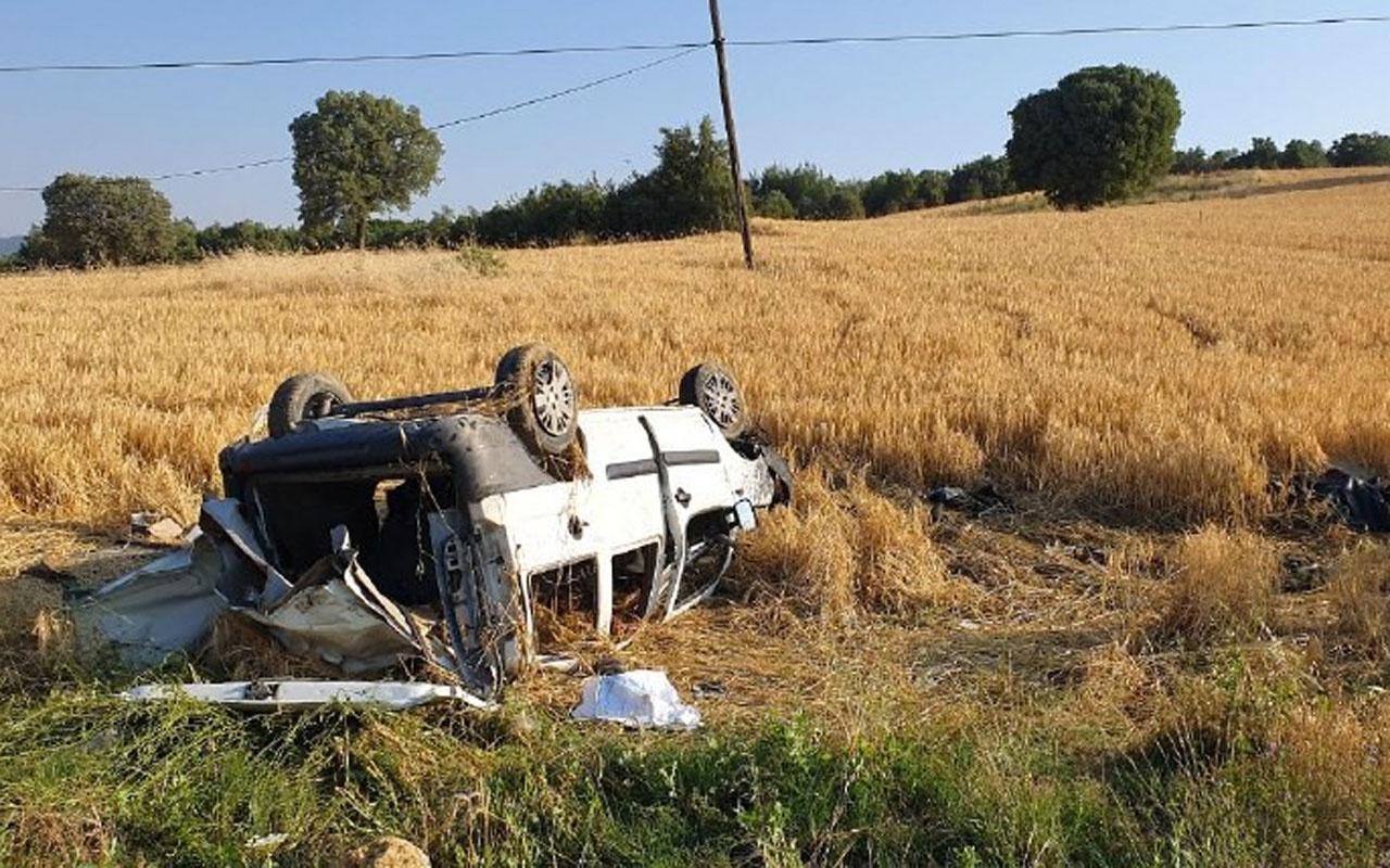 Cenazeye giden araç kaza yaptı: 2 ölü 2 yaralı
