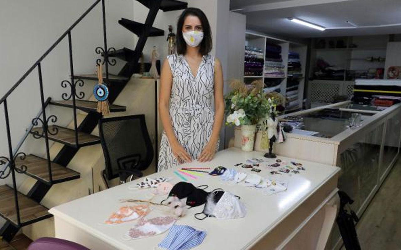 Edirne'de koronayı fırsata çevirdi kişiye özel maske üretiyor taleplere yetişemiyor