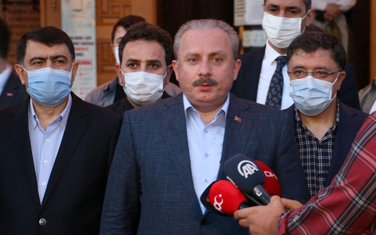 Yeniden TBMM Başkanı seçilen Şentop, Hacı Bayram Veli Camisi'nde namaz kıldı