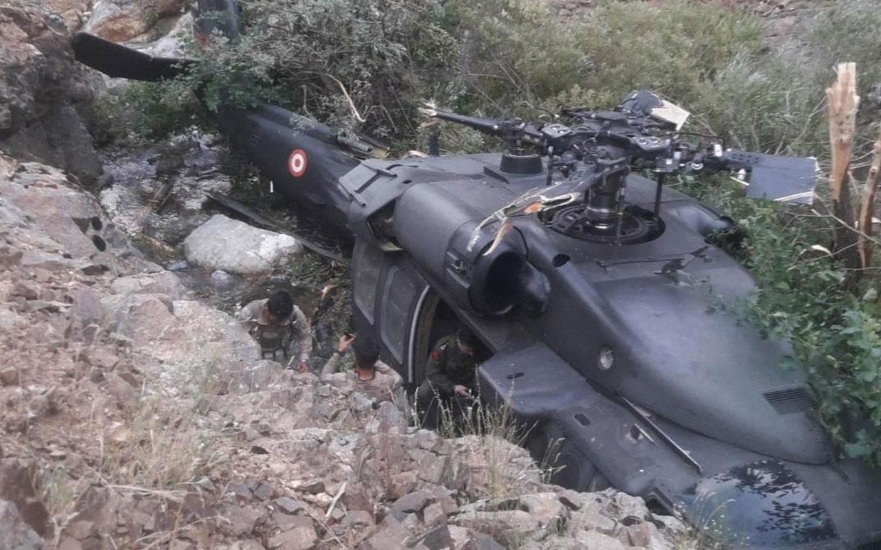 Bingöl'de operasyondan dönen helikopter zorunlu iniş yaptı sebebi teknik arıza