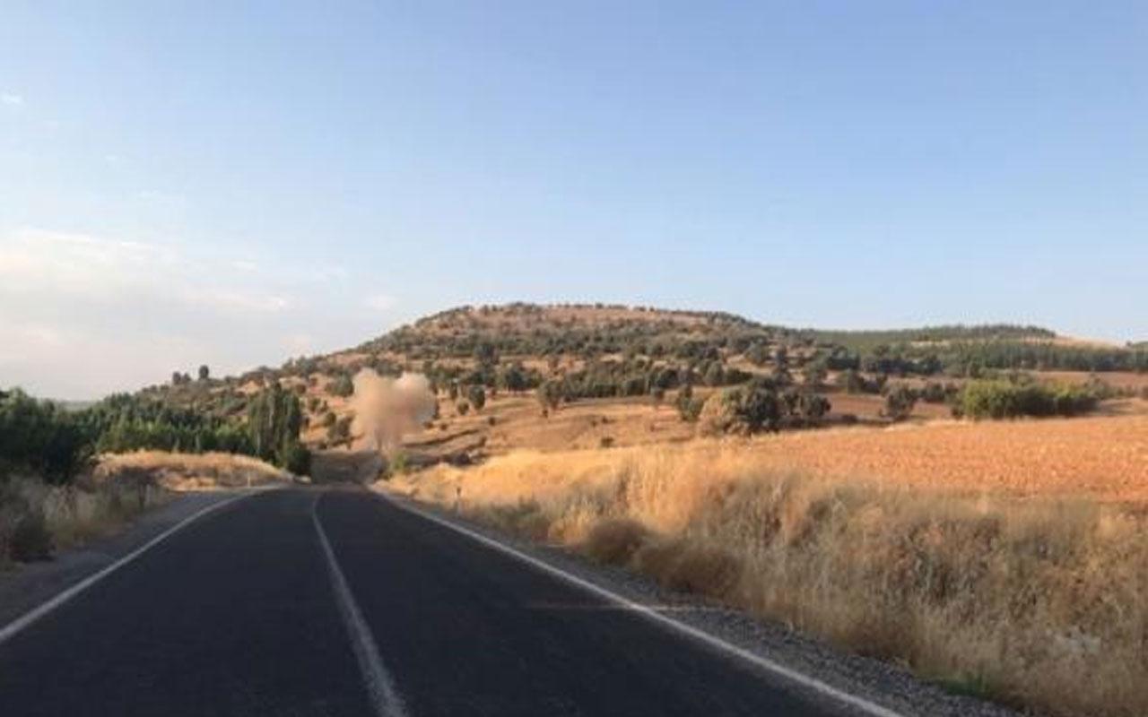 PKK'lı teröristlerin yola tuzakladığı patlayıcıyı imha edildi