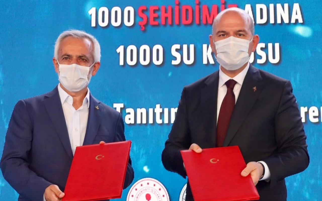 """""""1000 Şehidimiz Adına 1000 Su Kuyusu"""" projesi start aldı"""