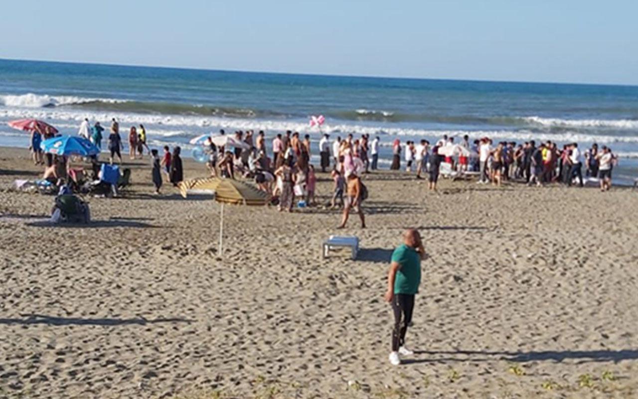 Denizde can pazarı! 9 kişi boğulma tehlikesi geçirdi