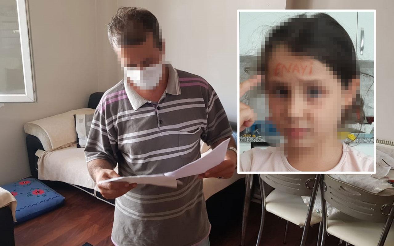 Kızının yanında sevgilisiyle cinsel ilişkiye girdi kızının alnına 'enayi' yazıp fotoğrafını gönderdi