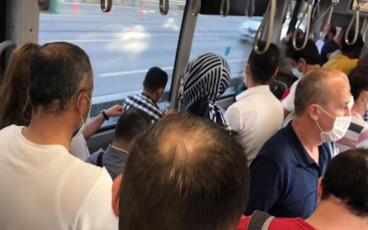 Metrobüslerde tıka basa yolculuk!