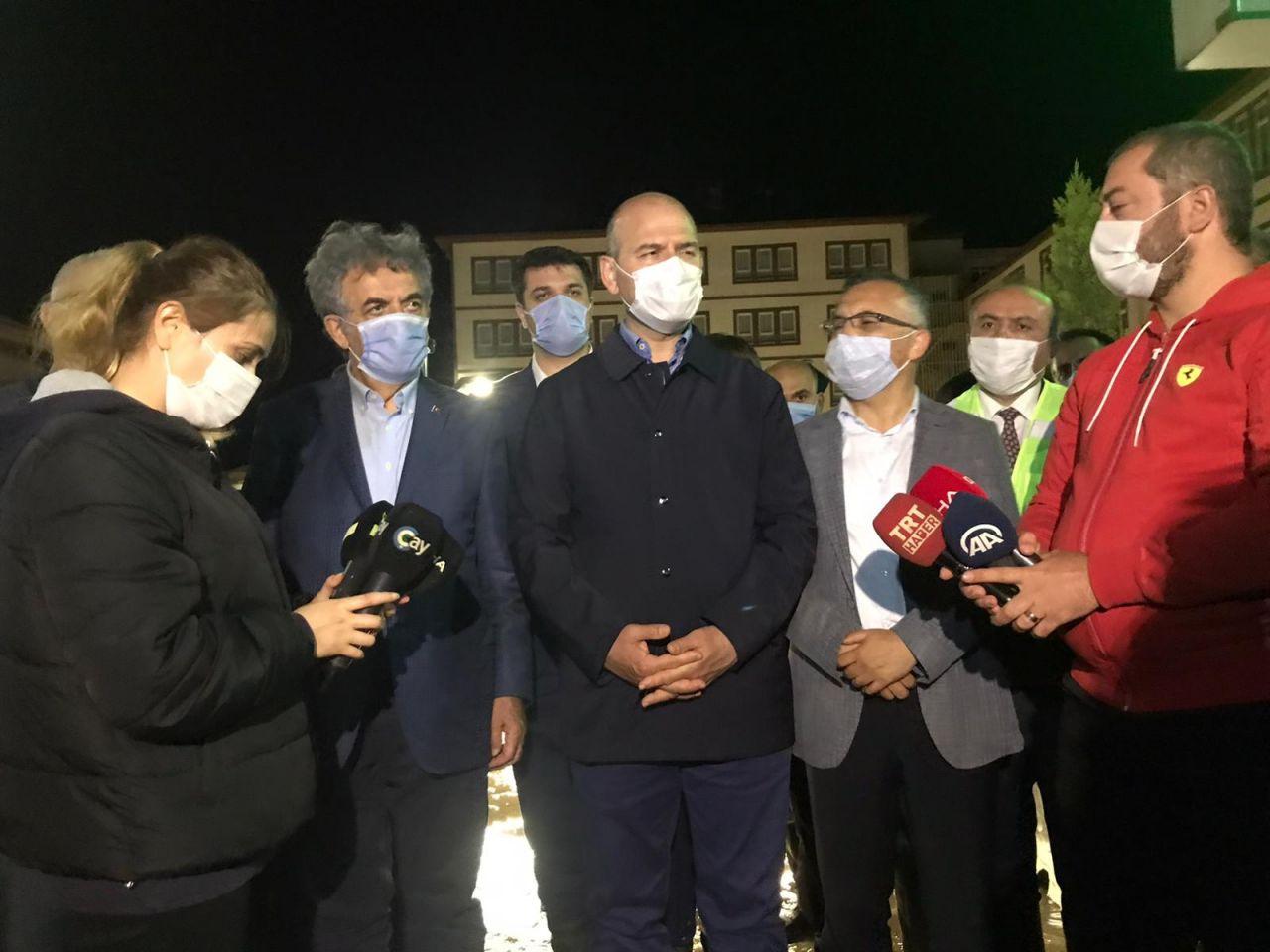 Bakan Soylu sel felaketin vurduğu Rize'de inceleme yaptı! Acı bilançoyu açıkladı
