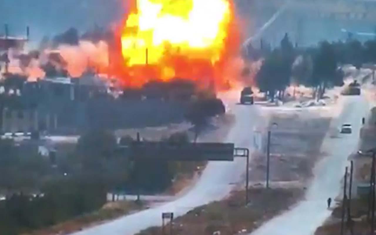 İdlib'te Türk-Rus devriyesi geçerken korkunç patlama! Alevler göklere yükseldi