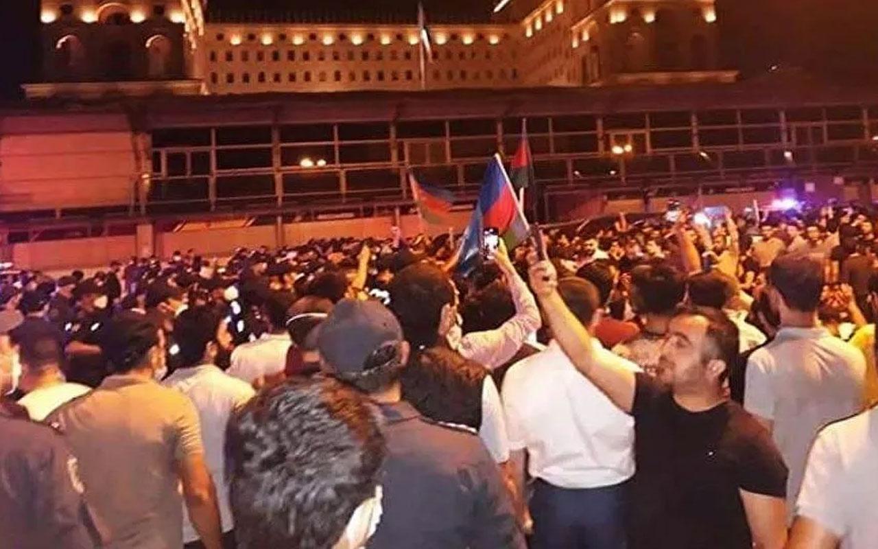 Ermenistan Azerbaycan çatışması! Bakü'de orduya destek yürüyüşü
