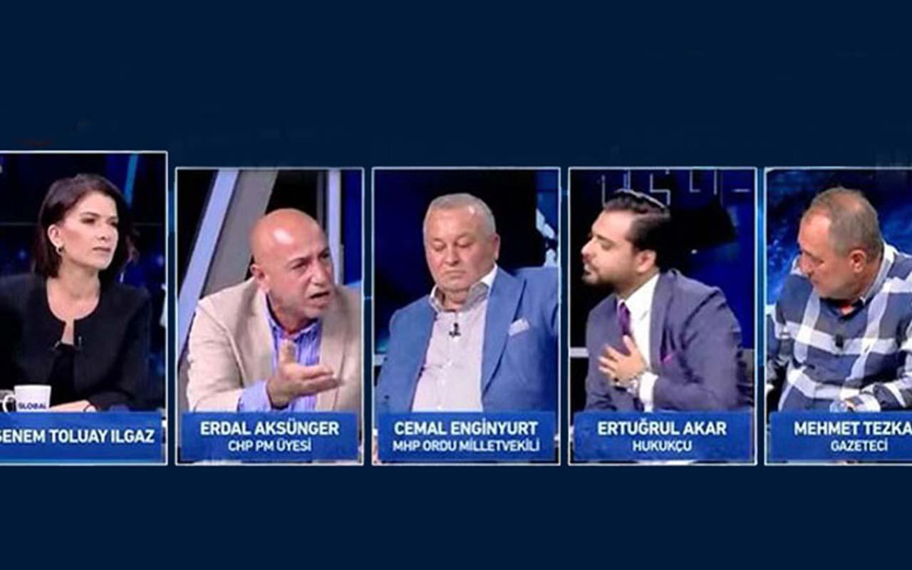 Muharrem İnce'den sonra CHP'li Erdal Aksünger de Haber Global canlı yayınını terk etti