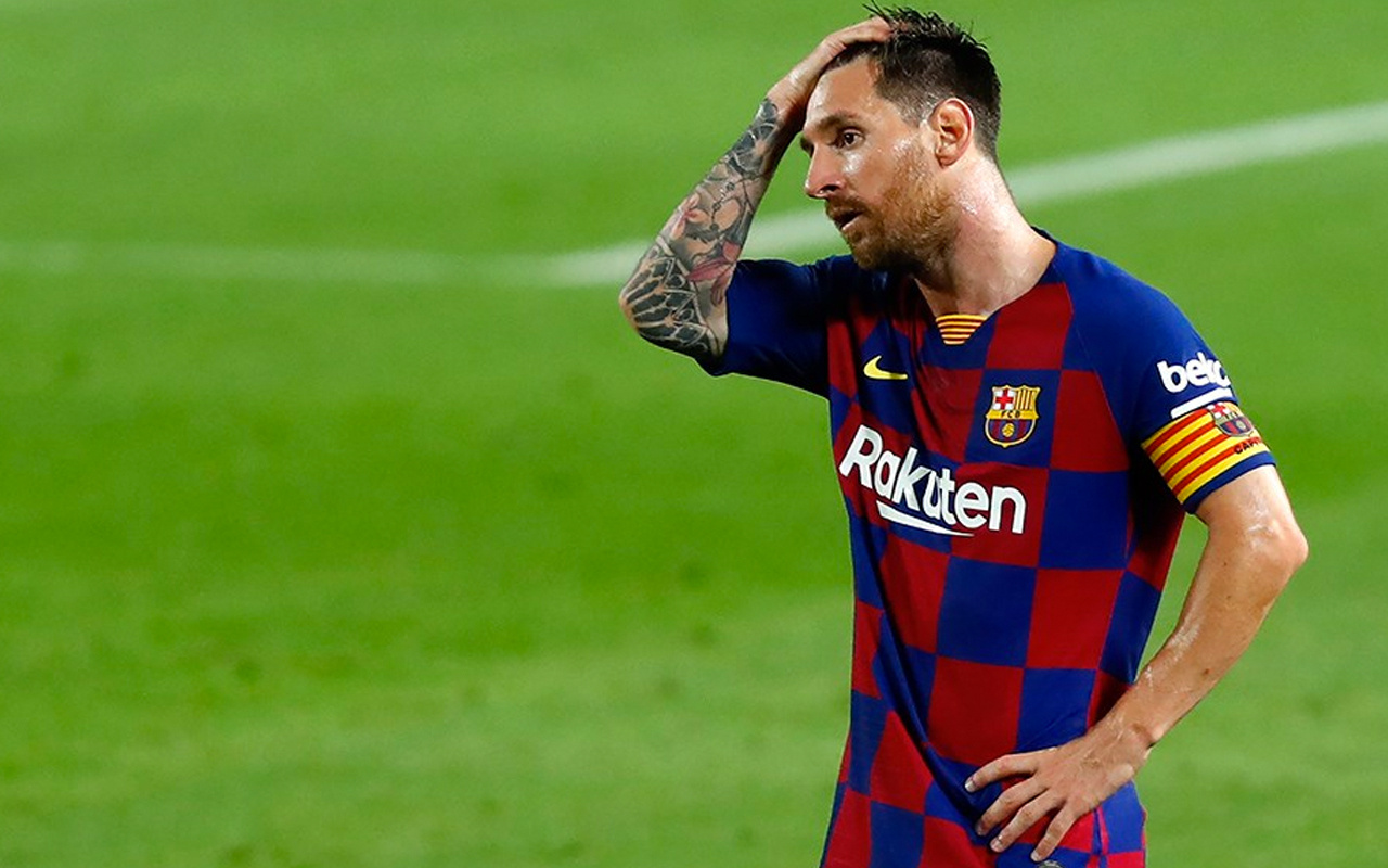 Messi Barcelona'ya veda ediyor
