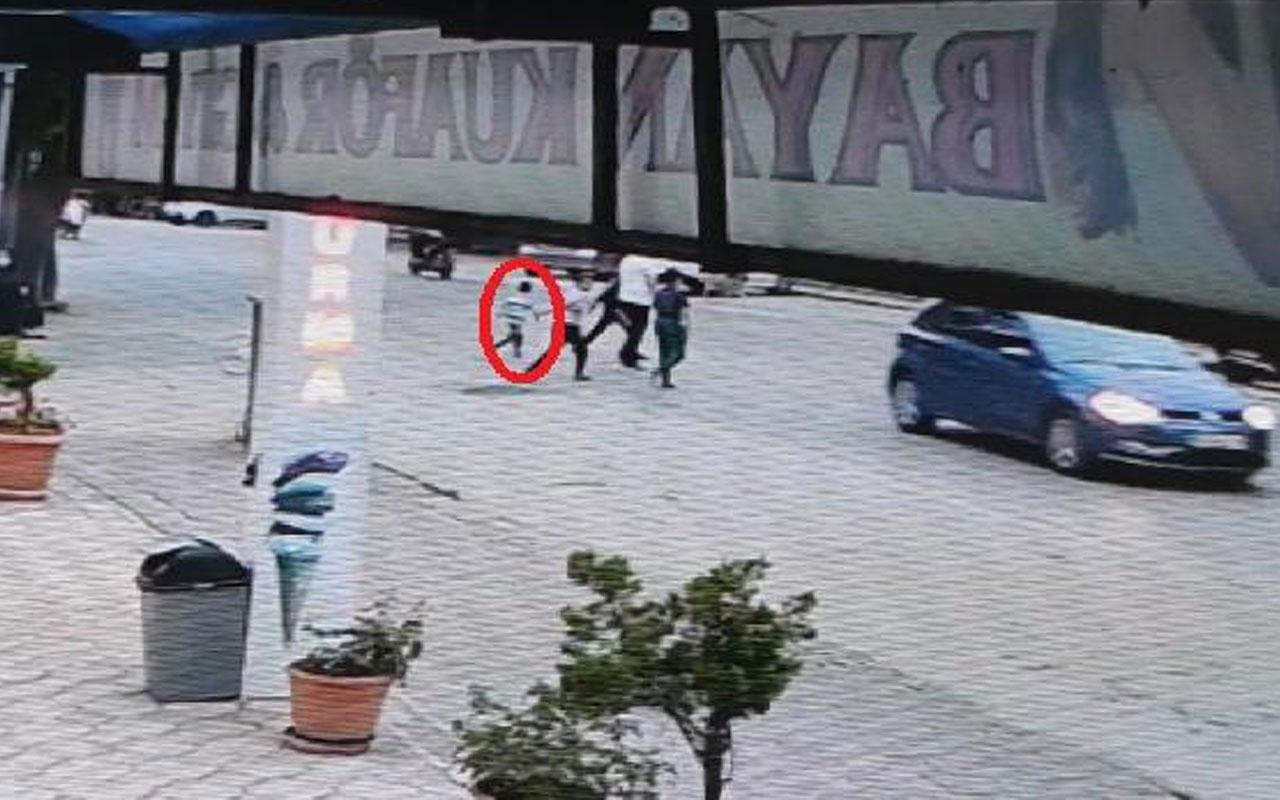 Minibüsün 5 yaşındaki çocuğa çarpma anı kamerada