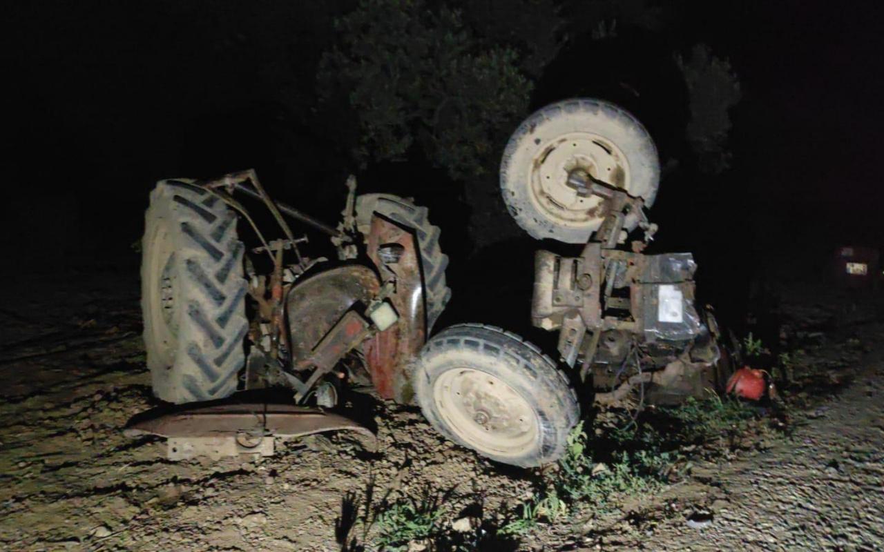 Kamyonetin çarptığı traktör üçe bölündü: 1 ölü, 1 yaralı