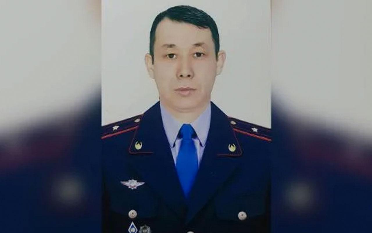 Kazakistan'da bir polis suçluyu yakalamak için 13'ncü kattan atladı