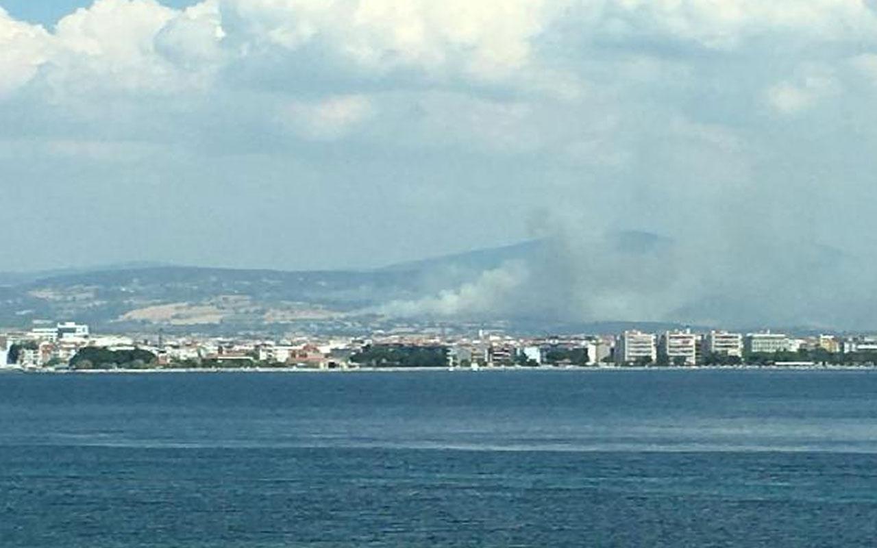 Çanakkale Kemalköy'deki orman yangını kontrol altında