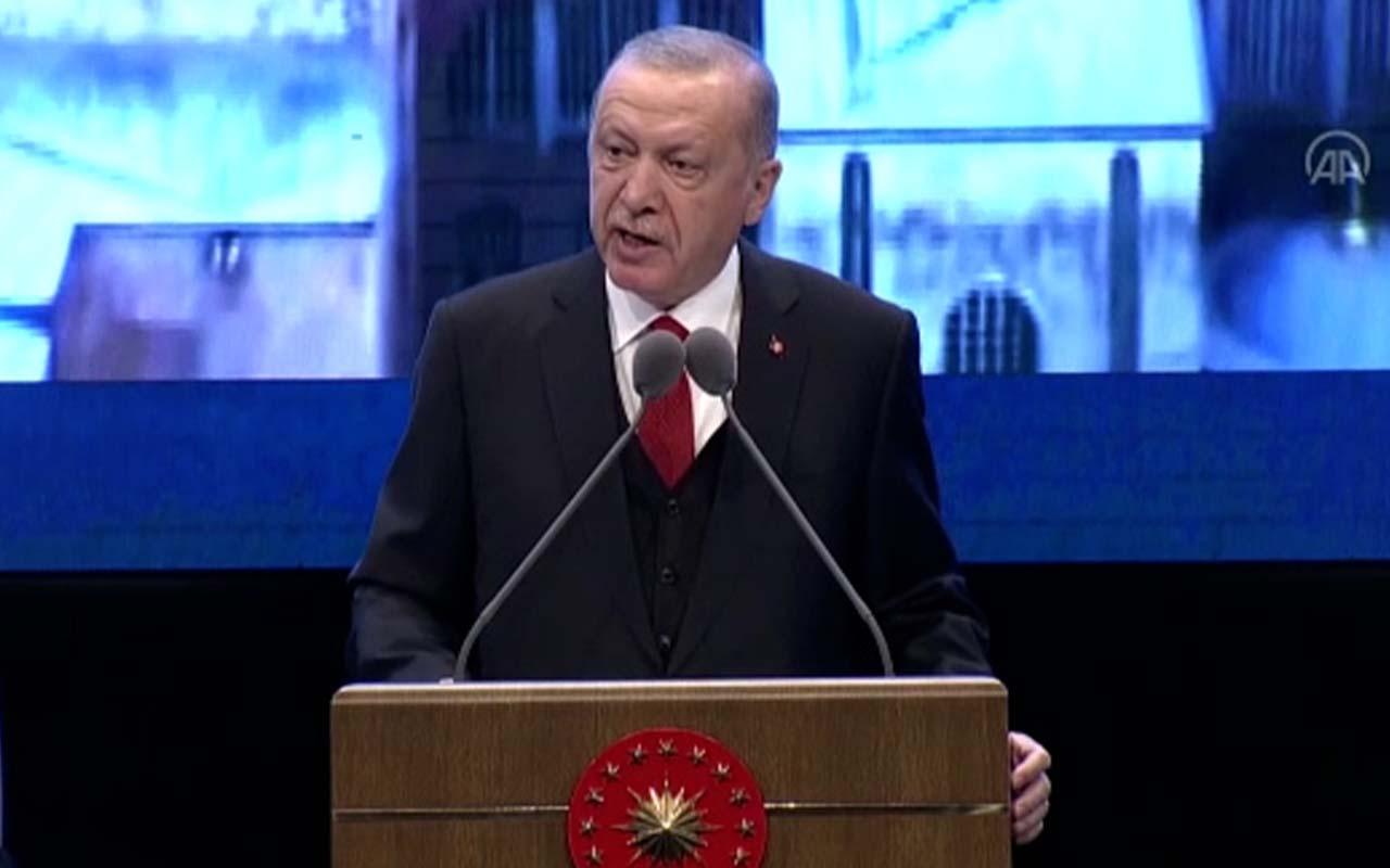 Cumhurbaşkanı Erdoğan: 'Hakkını söke söke alan bir ülke olarak devam edeceğiz'