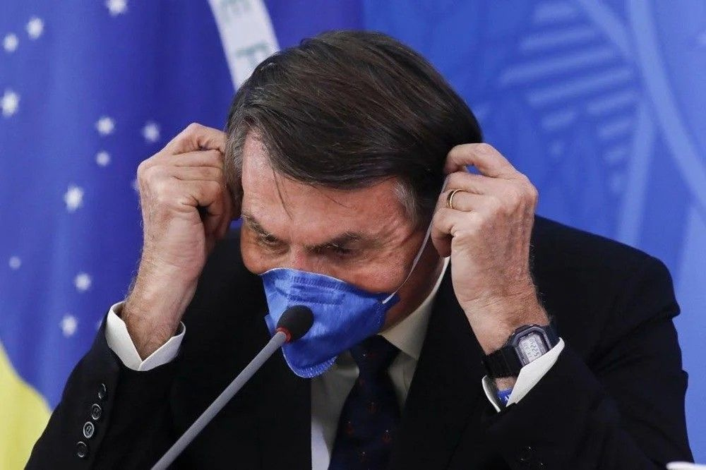 Brezilya Devlet Başkanı Bolsonaro'nun üçüncü koronavirüs testi de pozitif çıktı