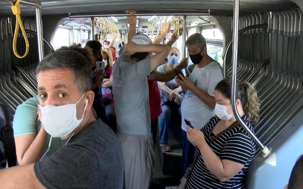 Yenibosna'da fazla yolcu alan İETT şoförüne ceza kesildi