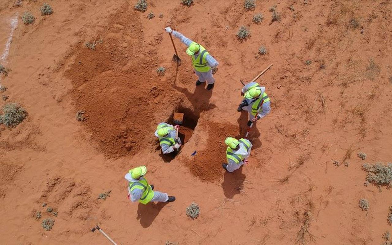 Libya'da Hafter'den kurtarılan Terhune'deki toplu mezarlardan 7 ceset daha çıkarıldı