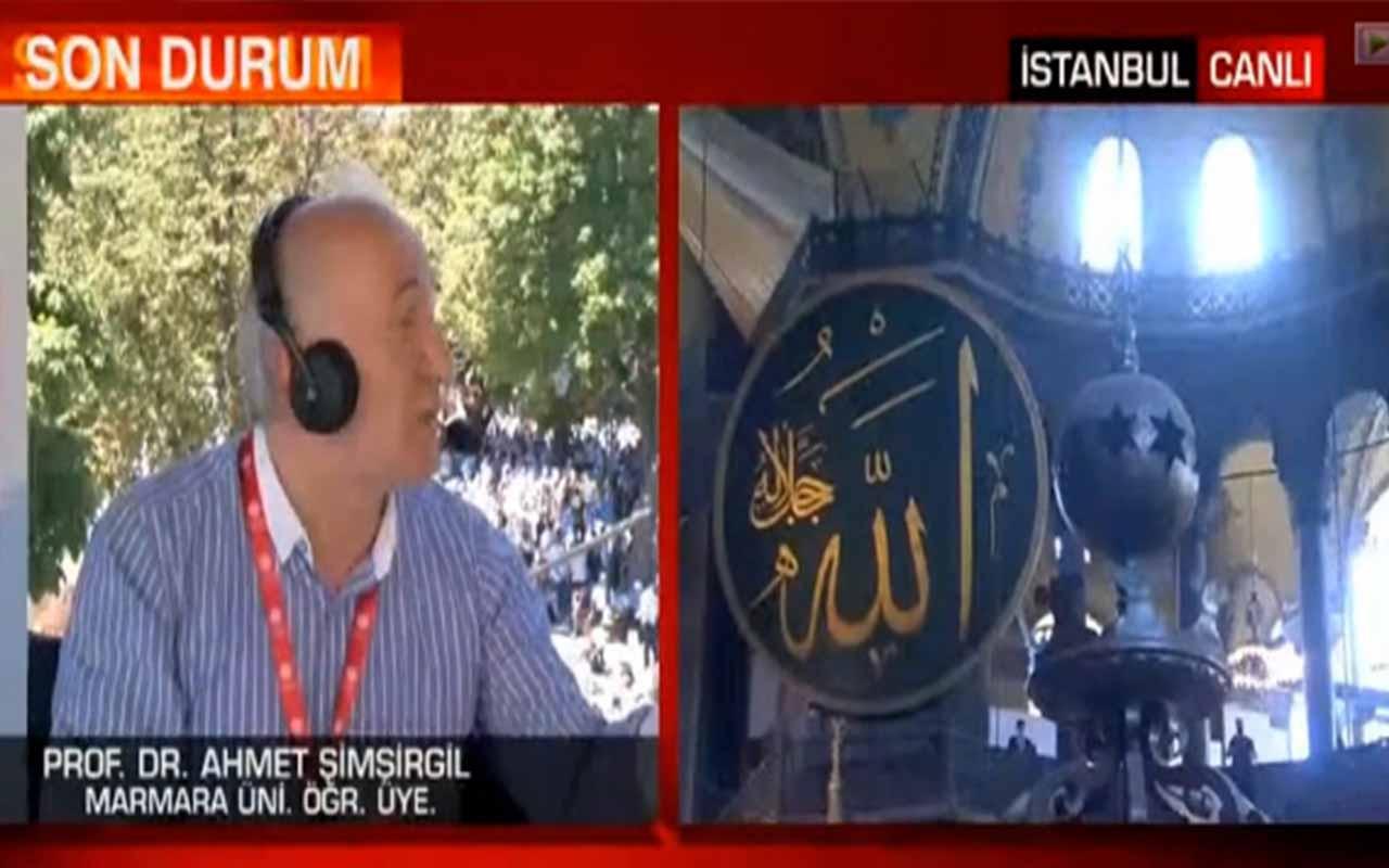 Ayasofya camidir burada put olmaz Diyanet korktu! CNN Türk'te olay sözler