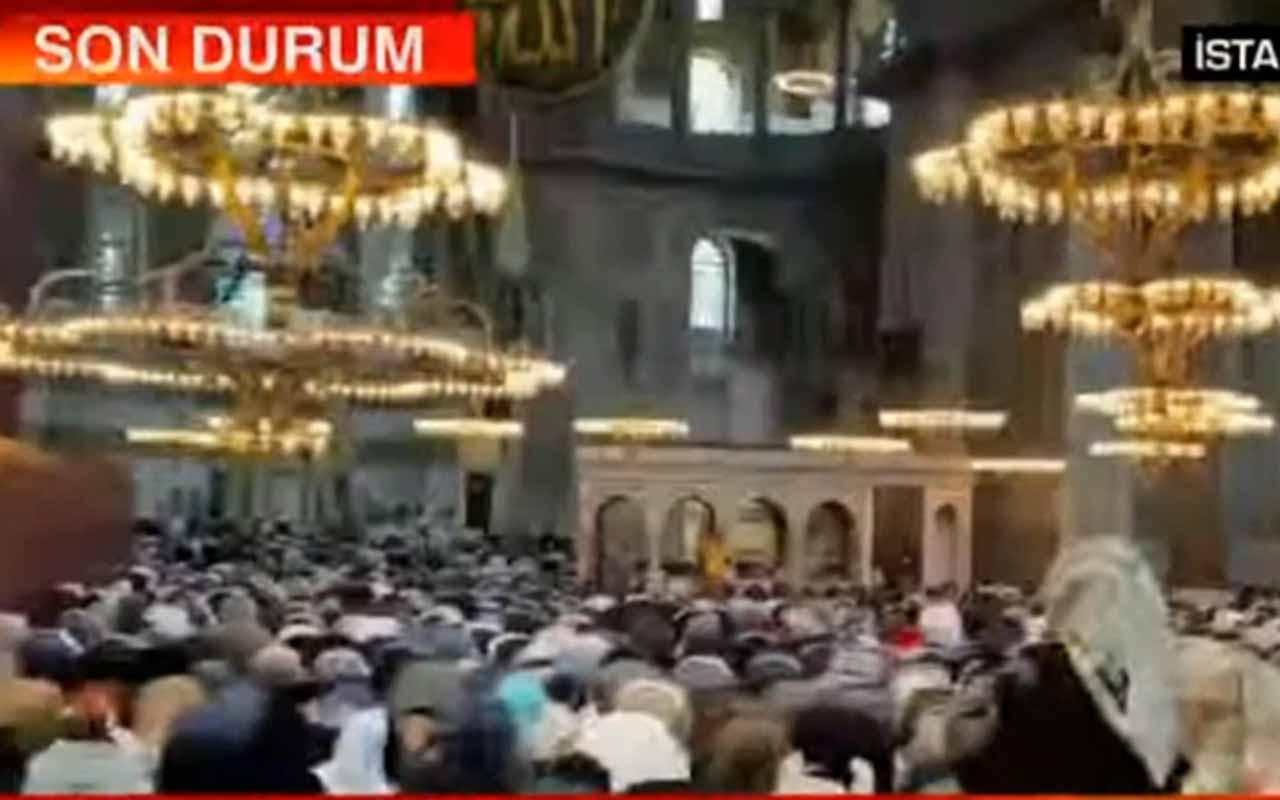Ayasofya-i Kebir Cami-i Şerifi'nde ikindi namazı kılındı