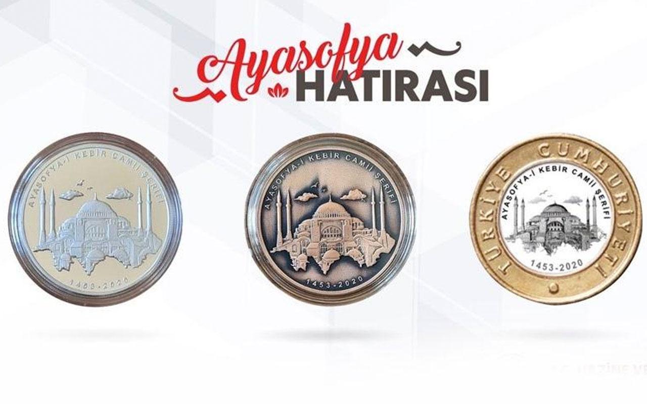Ayasofya için özel hatıra parası basıldı işte o paraların fiyatları