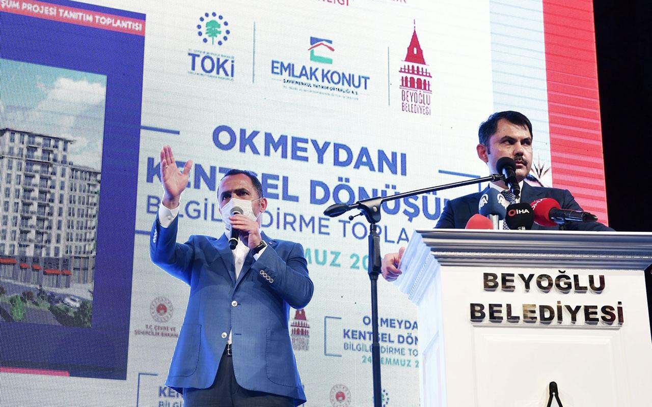 Bakan Murat Kurum Okmeydanı Kentsel Dönüşüm Bilgilendirme Toplantısında konuştu