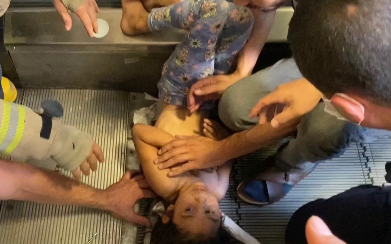 İstanbul Kartal'da 7 yaşındaki kızın saçları yürüyen merdivene sıkıştı