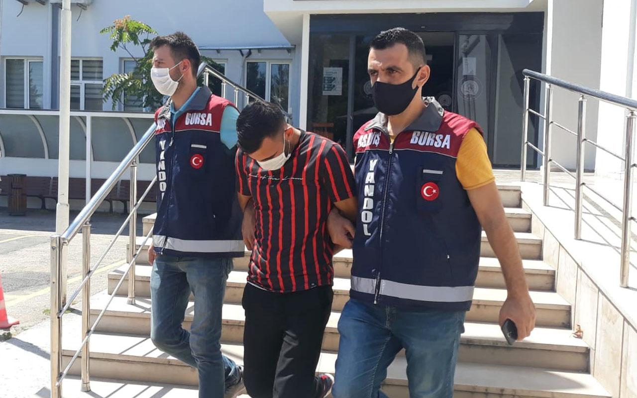 Bursa'da suç makinesini minik detay yakalattı