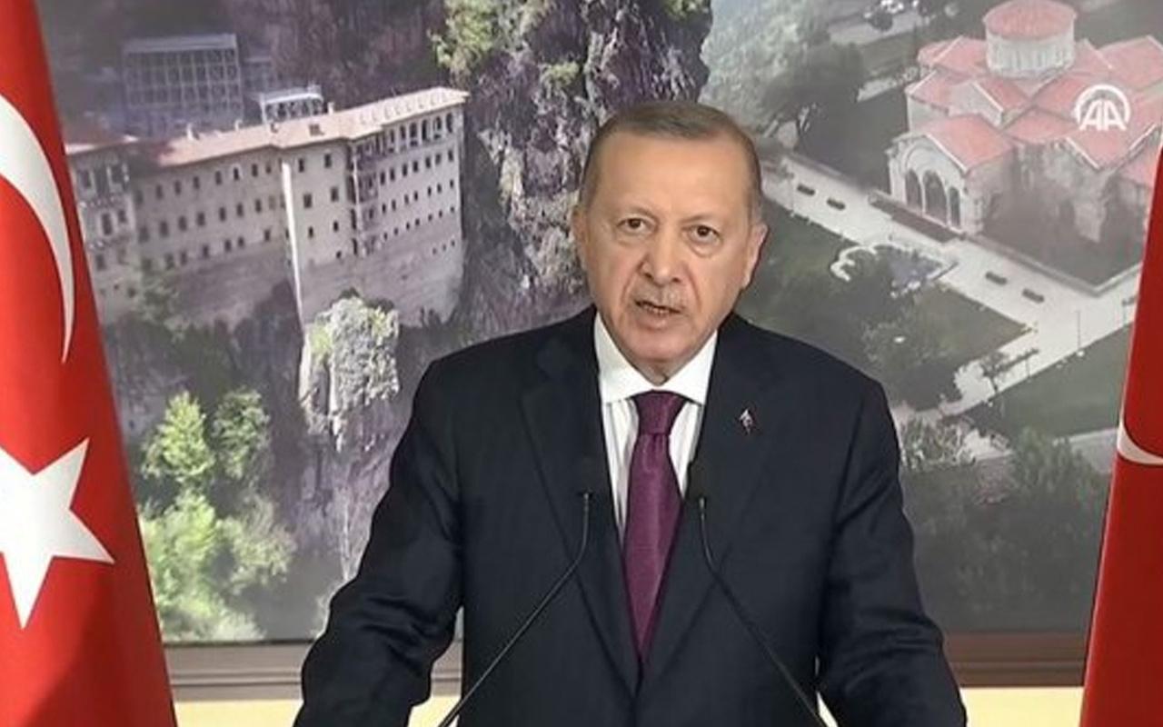 Trabzon'da İkinci Ayasofya Camii heyecanı! Cumhurbaşkanı Erdoğan açılışını yaptı