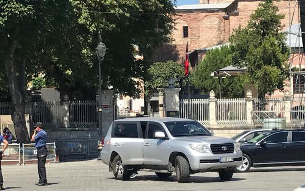 Ayasofya'ya sürpriz ziyaret! ABD Büyükelçisi Satterfield Ayasofya'ya geldi