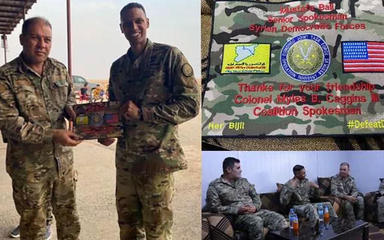 Suriye'de YPG/PKK'dan ABD'li komutana dostluk plaketi
