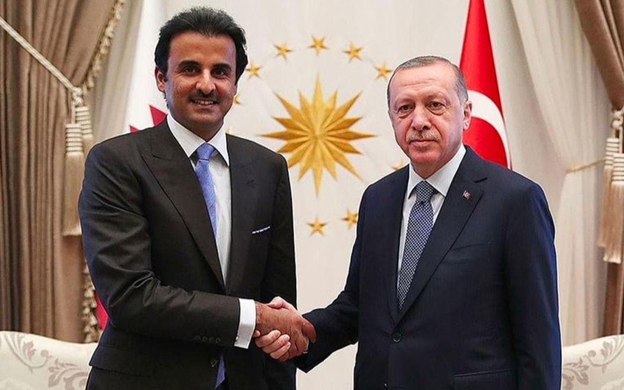 Başkan Erdoğan ve Katar Emiri arasında bayram görüşmesi