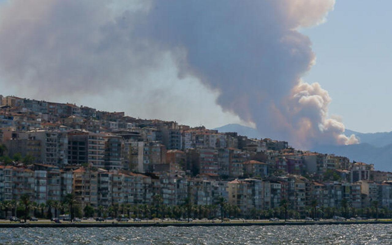 İzmir'de korkutan yangın! Ekipler harekete geçti