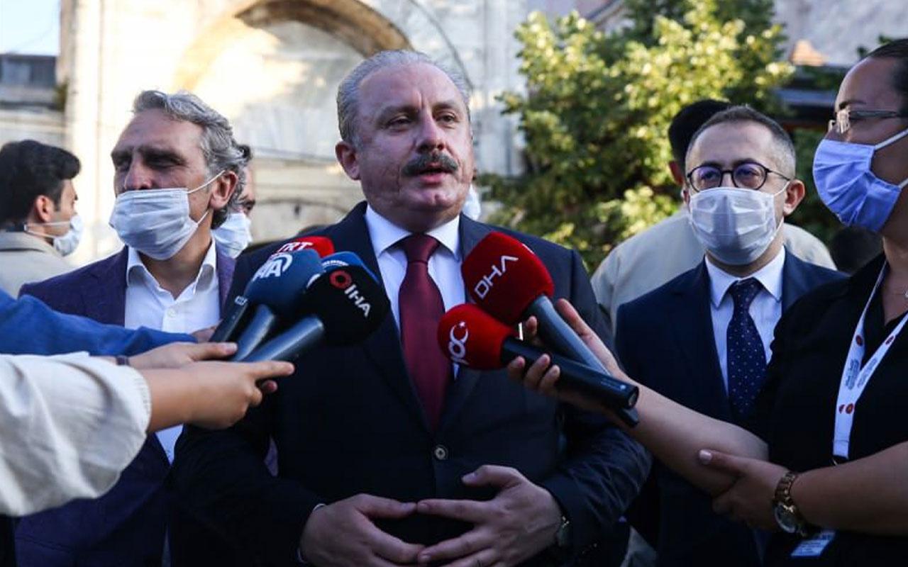 TBMM Başkanı Şentop'tan bayram namazı sonrası Fransa'ya Doğu Akdeniz resti