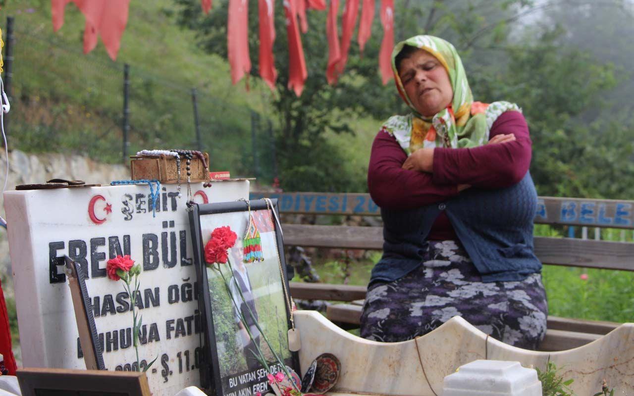 Trabzon'da Şehit Eren Bülbün'ün annesinden Ekrem İmamoğlu'na tepki! Şimdiye kadar neredeydin?