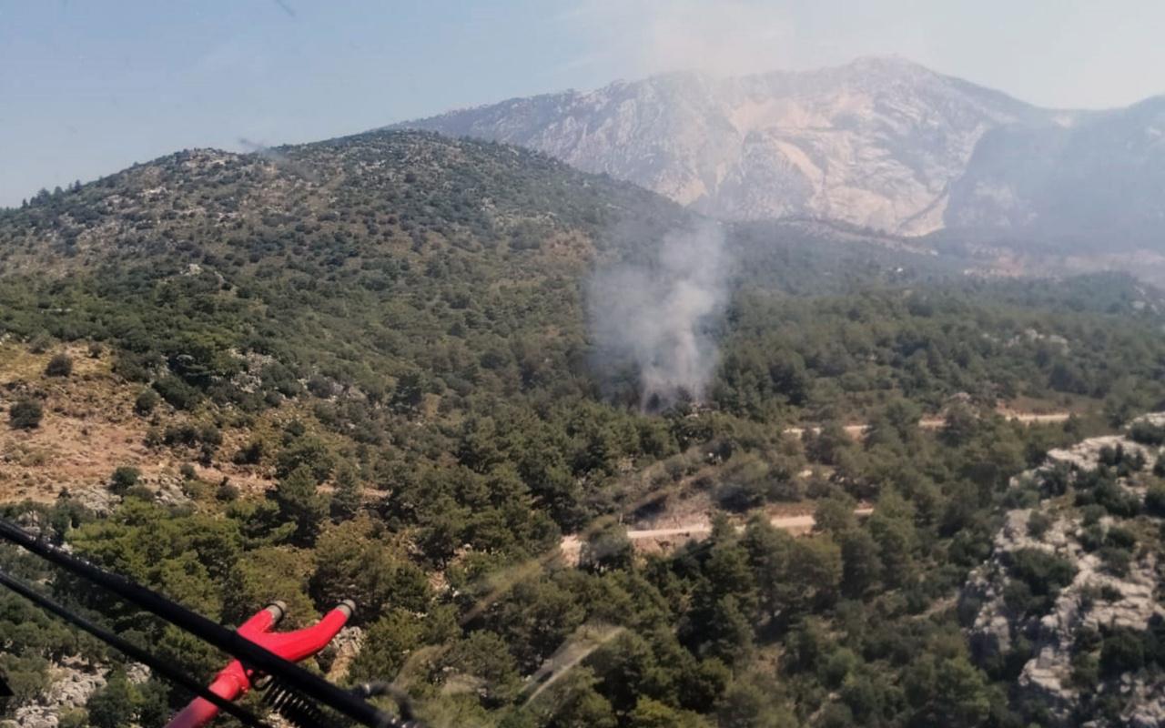 Fethiye'de orman yangını! Müdahale sürüyor