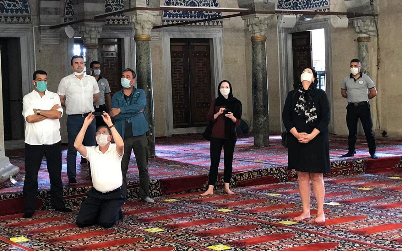 ABD'nin Ankara Büyükelçisi Satterfield Selimiye'yi gezdi 'muhteşem' dedi