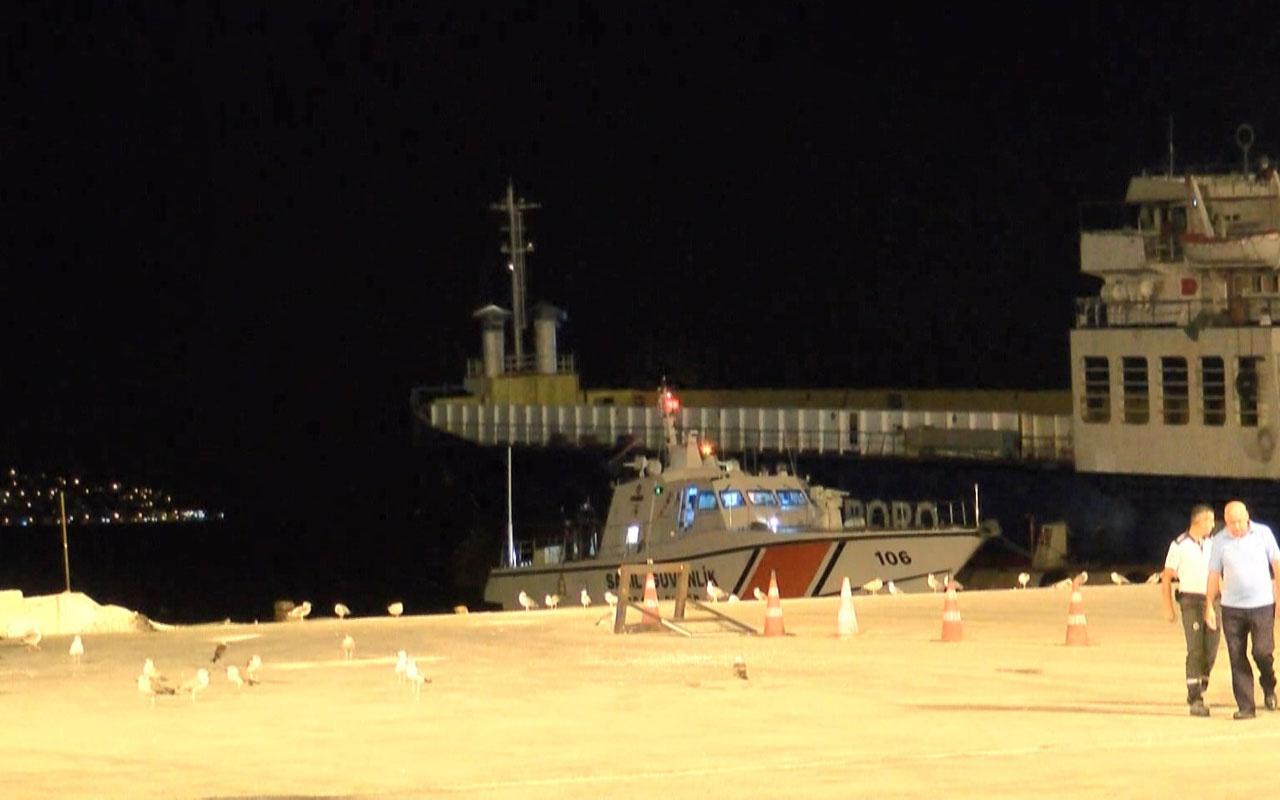 Kınalıada açıklarında deniz taksi kayalığa oturdu