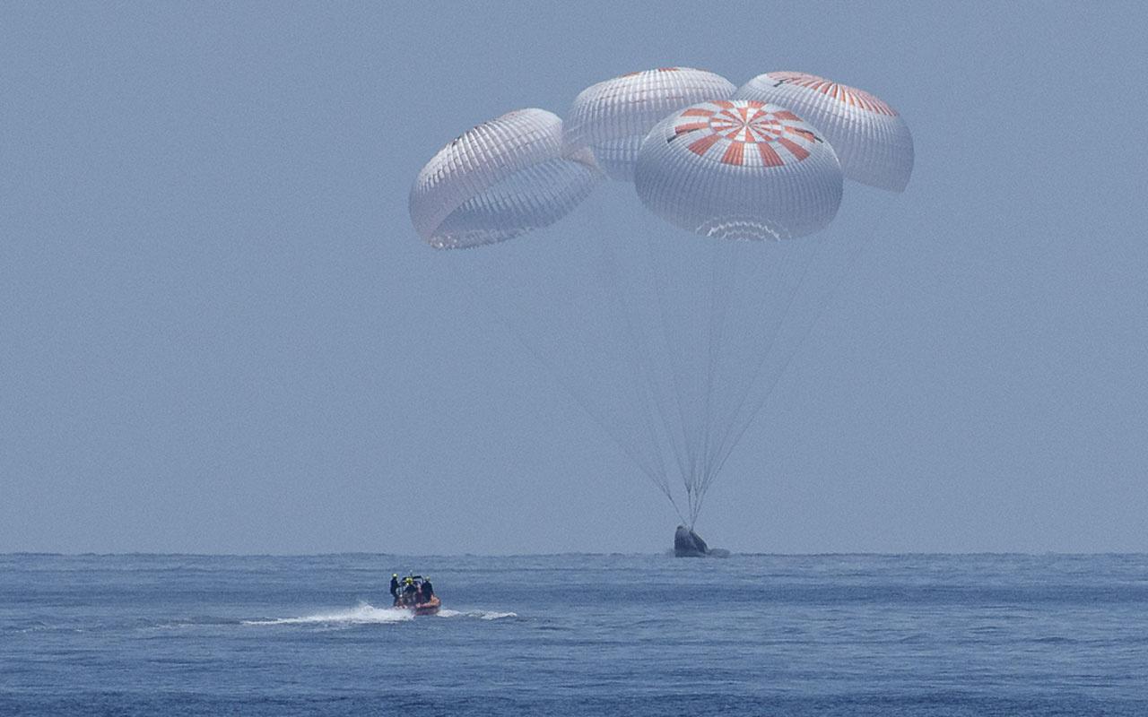 NASA astronotları Dünya'ya geri döndü
