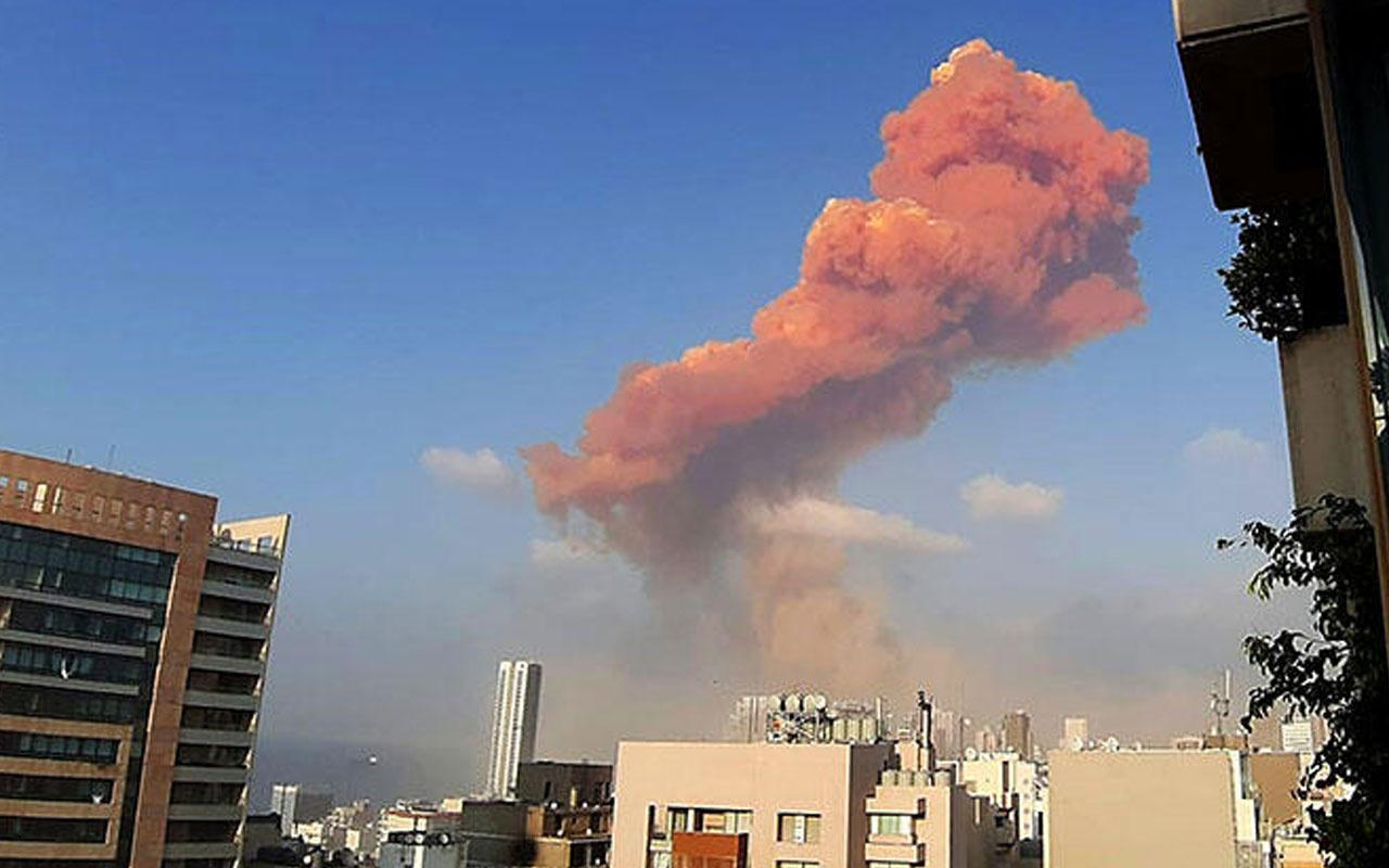 Lübnan'ın başkenti Beyrut'ta büyük patlama! Ölü ve yaralılar var