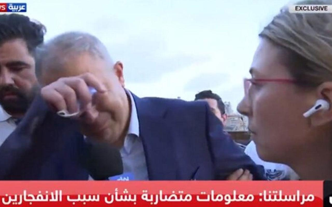 Beyrut Valisi patlama sonrası gözyaşlarını tutamadı