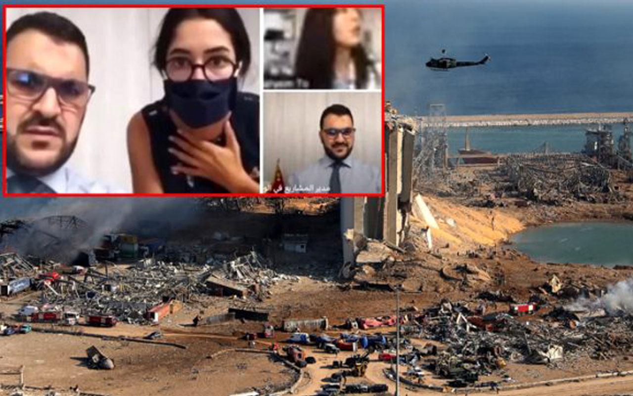 BBC muhabiri Beyrut'u yerle bir eden patlamaya canlı yayında yakalandı